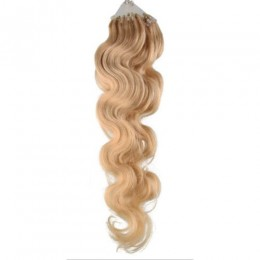 Wellige Haar für die Methoden Micro Ring / Easy Loop 60 cm – natur blonde